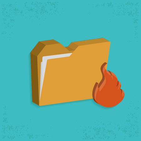 fiasco: Fire folder design,clean vector
