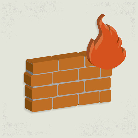 protected database: Dise�o de la pared de Bomberos, vector limpia Vectores