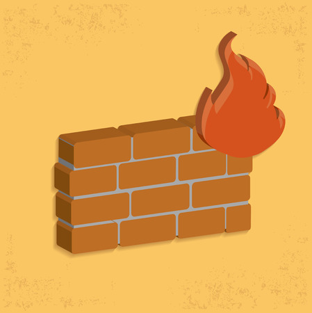 wall design: Fire wall design,clean vector Illustration