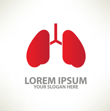 lung template design on clean background,vector royalty free, Powerpoint templates