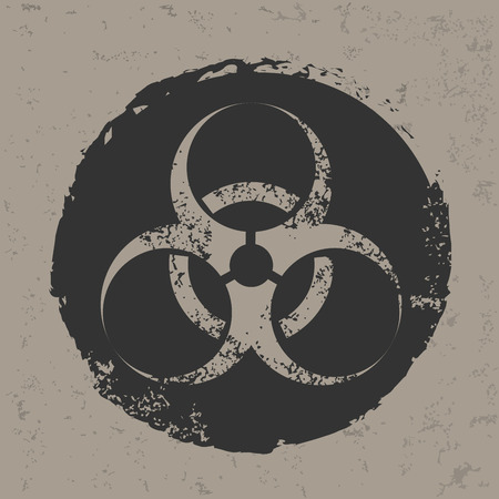fission: Bio-hazard design on grunge background, grunge vector
