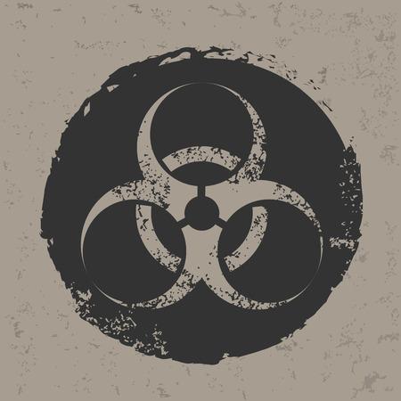 Bio-hazard design on grunge background, grunge vector