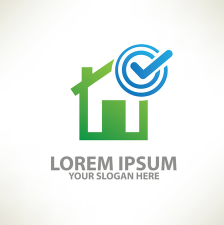 Home  template design on clean background,vector