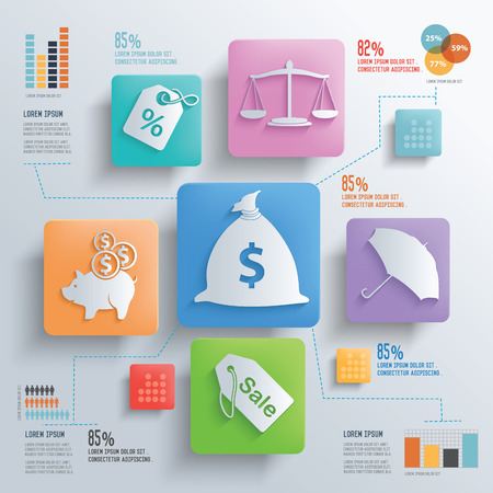 Financial and business concept design clean background,clean vector