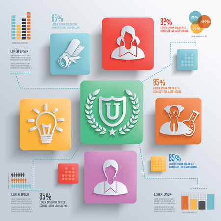 case study: Education and Student concept design clean background,clean vector