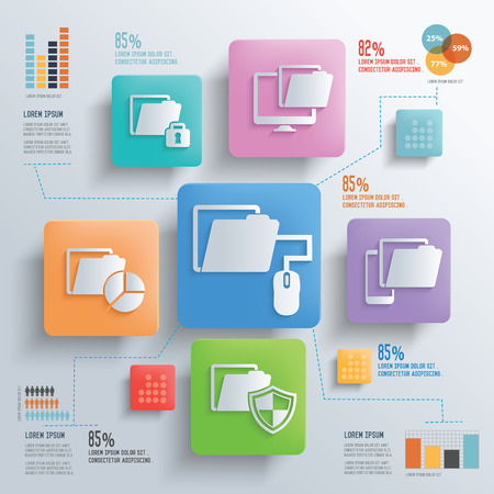 file sharing: File sharing and data transfer concept design clean background,clean vector