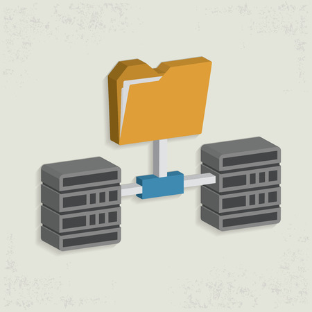 database: Database server design,clean vector