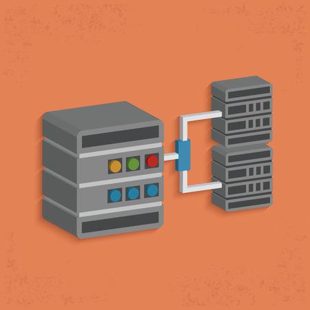 cylinder lock: Database server design,clean vector