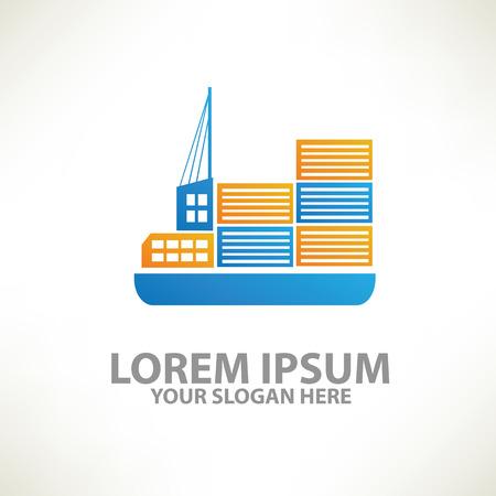 shipyard: boat shipping design, template,colour concept design,clean vector