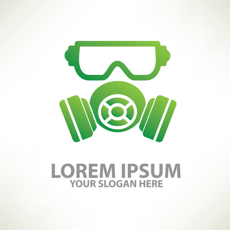 chemical weapon symbol: Mask industry  templatecolour concept designclean vector