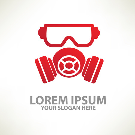 chemical weapon symbol: MaskIndustry  templatecolour concept designclean vector Illustration