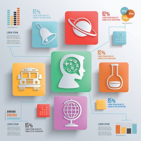 chemically: Education and science concept design clean backgroundclean vector