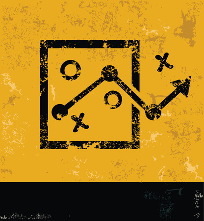 choose a path: Strategy design on yellow backgroundgrunge conceptgrunge vector Illustration