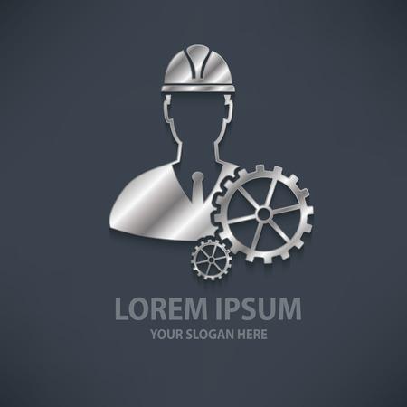 contractor: Engineering design  templatesilvermetal concept designclean vector