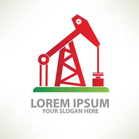 huile: L'industrie pétrolière notion conception de templatecolour vecteur designclean