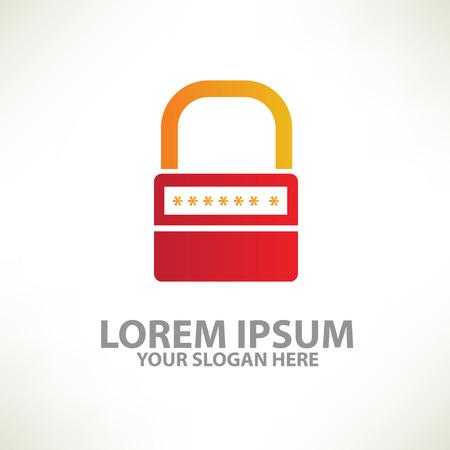 web security: Lock design  templatecolour concept designclean vector Illustration