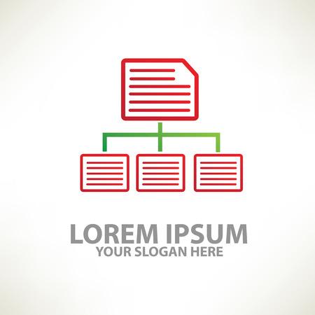 article writing: Document design templatecolour concept designclean vector