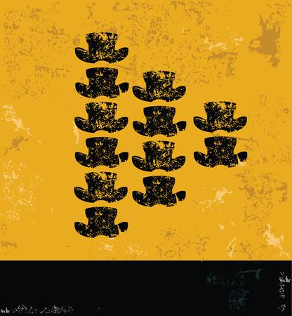 tibia: Bone design on yellow backgroundgrunge conceptgrunge vector