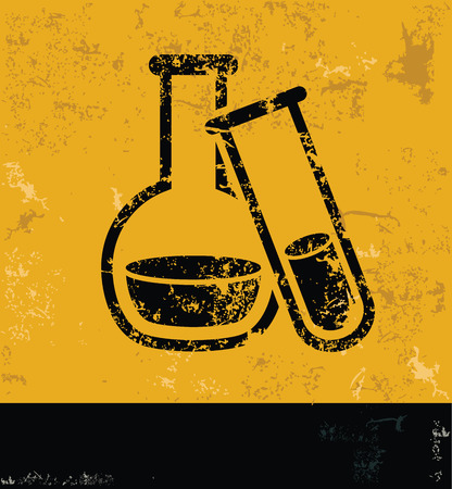 Science design on yellow backgroundgrunge conceptgrunge vector Vector
