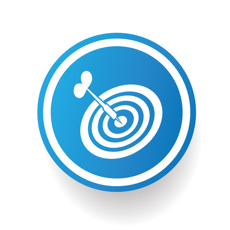 Dart on blue button backgroundon white backgroundclean vector Vector