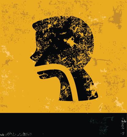 gastroenterology: Gastroenterology design on yellow backgroundgrunge conceptgrunge vector Illustration