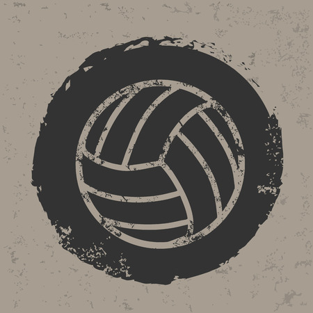 Volleyball design on old backgroundgrunge vector Vector
