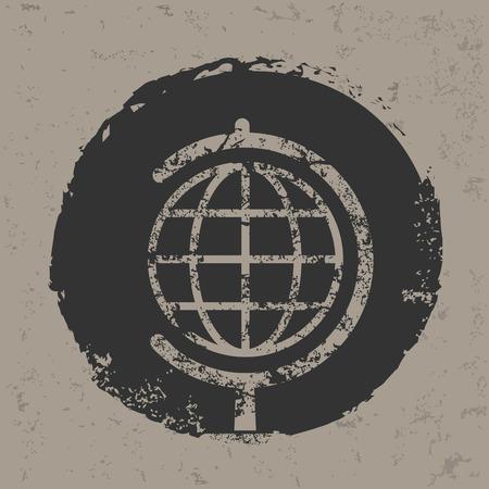 picto: Globe design on old backgroundgrunge vector