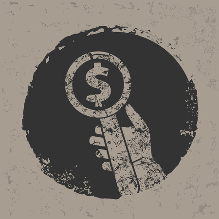 contend: Money symbol on grunge designgrunge vector