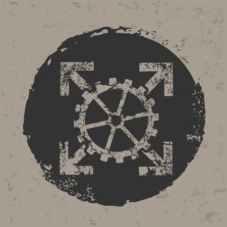 Gear symbol on grunge designgrunge vector Vector