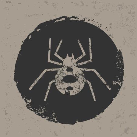 arthropods: Spider design on grunge backgroundgrunge vector Illustration