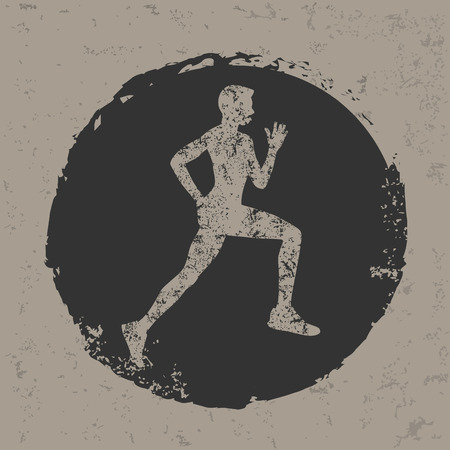 scamper: Running design on grunge backgroundgrunge vector