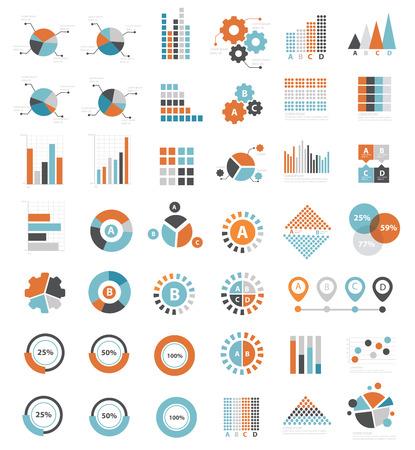 Data analysis icons on white background clean
