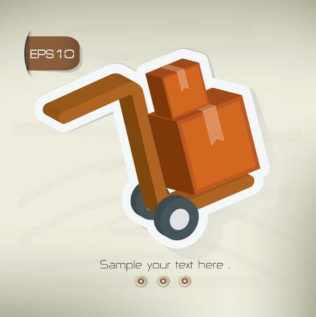 package sending: Logistic sticker design on old backgroundvector