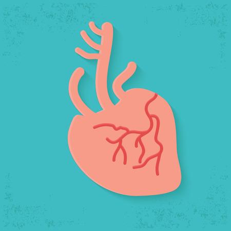 bosom: Dise�o del coraz�n en fondo azul