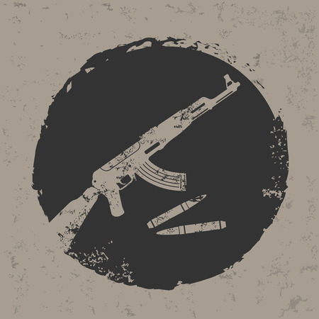 Weapon design on grunge background