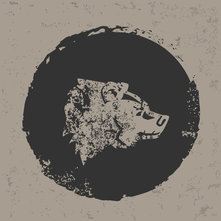 Bear design on grunge background Vector