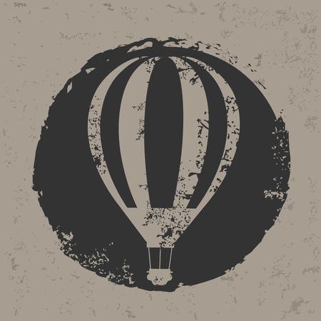 cloud drift: Balloon design on grunge background
