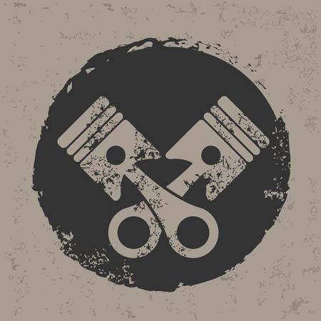 Engine design on grunge background