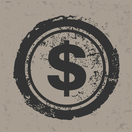 monet: Dollar design on grunge background grunge