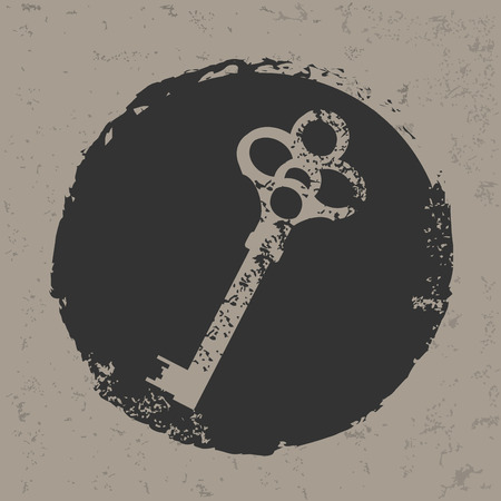 decrypt: Key design on grunge background grunge vector