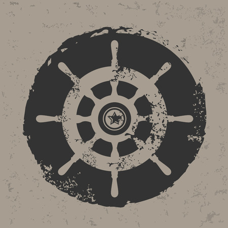 Boat symbol design on grunge background grunge vector Vector