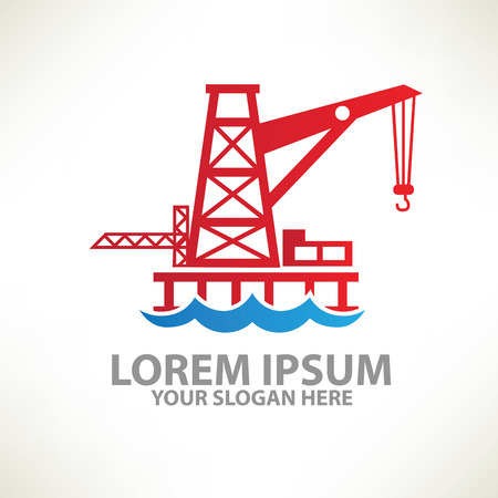 Oil industry design  templatecolour concept designclean vector Vector