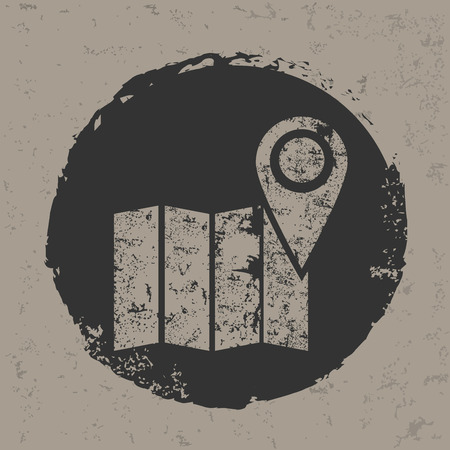 pinning: Location design on grunge backgroundgrunge vector