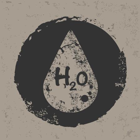 Water design on old backgroundgrunge vector