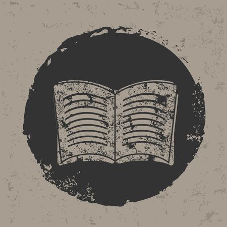 Book symbol on grunge designgrunge vector Vector