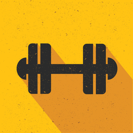 pulsation: Fitness icon design on yellow background,flat design,clean vector