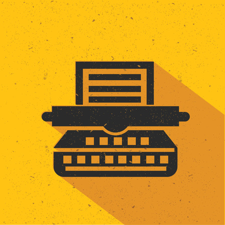 Printer icon design on yellow background,flat design,clean vector