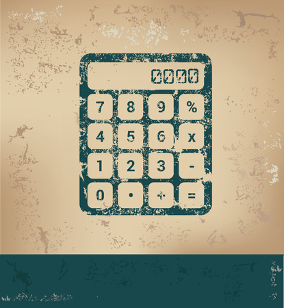 old paper background: Calculator design on old paper background,grunge concept,vector