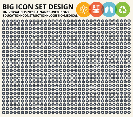 universal: Big icon set,Business,financial,universal website,construction,heavy industry,medical,healthy care,education and ecology,nature icons,clean vector