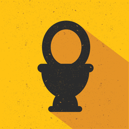 bidet: Toilet icon design on yellow background,flat design,clean vector